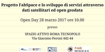 Progetto FabSpace e sviluppo di servizi attraverso dati satellitari ed open geodata