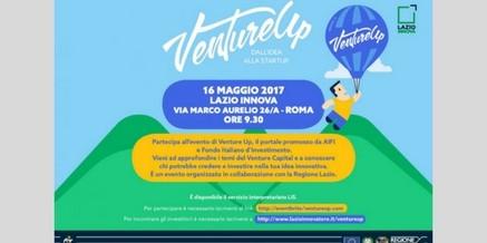 VentureUp e StartupLazio il 16 e 17 maggio