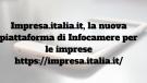 Impresa.italia.it la nuova piattaforma di Infocamere per le imprese