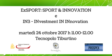 ExSPORT SPORT & INNOVATION e IN3 – INvestment IN INnovation