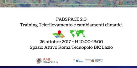 FABSPACE 2.0 Training Telerilevamento e cambiamenti climatici