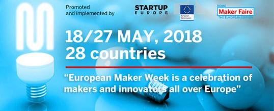 European Maker Week  – dal 12 al 19 maggio 2018