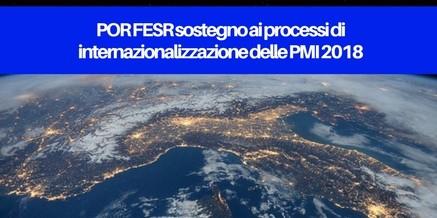 POR FESR sostegno ai processi di internazionalizzazione delle PMI 2018