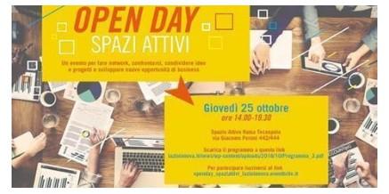 OPEN DAY SPAZI ATTIVI LAZIO INNOVA – 25 ottobre 2018