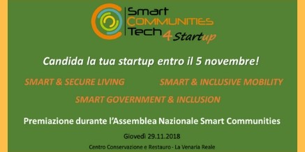 SMARTCOMMUNITIESTECH4STARTUP – CALL FOR START UP