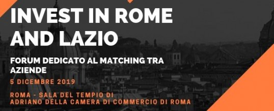 Progetto Invest in Rome and Lazio – Elevator Pitch