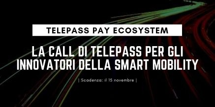 Mobilità intelligente: pubblicato il bando Telepass Pay Ecosystem