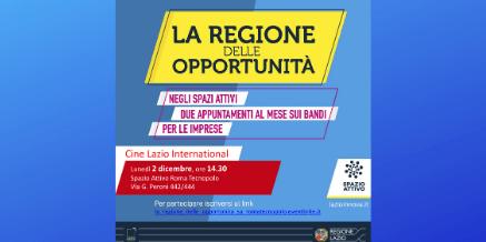 Regione delle opportunità – Cine Lazio International