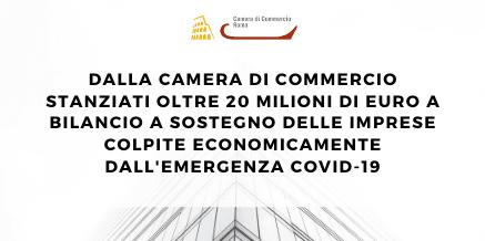 CCIAA – Stanziati oltre 20 milioni di euro