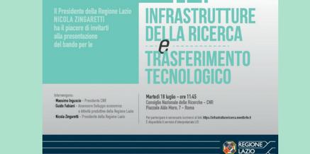 Regione Lazio: Bando Rete di Infrastrutture