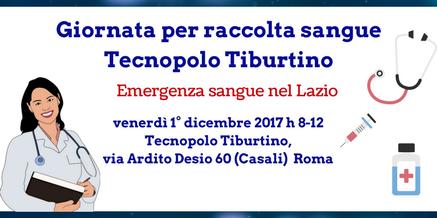 Giornata per raccolta sangue al Tecnopolo Tiburtino