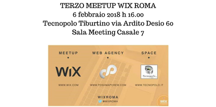 TERZO MEETUP WIX ROMA