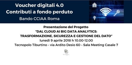 "Voucher Digitali 4.0 – Progetto Aggregato ""Dal Cloud ai Big Data Analytics"""