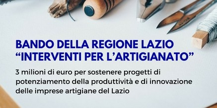 Bando Regione Lazio – Interventi per Artigianato