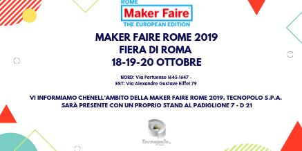 MAKER FAIRE ROME 2019 FIERA DI ROMA  18-19-20 ottobre