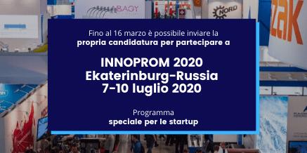 INNOPROM 2020 Ekaterinburg-Russia 7-10 luglio 2020