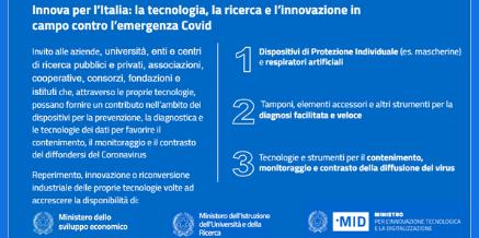 Innova per l'Italia – Tecnologia e Innovazione contro il Coronavirus