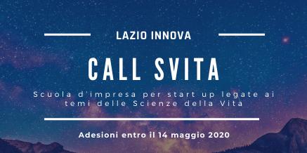 Call SVita – Scuola per Startup legate ai temi delle Scienze della Vita