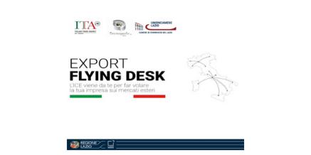EXPORT FLYING DESK LAZIO – MARTEDI' 14  luglio 2020