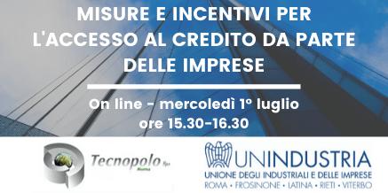 Misure e Incentivi per l'accesso al credito da parte delle imprese