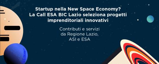 CALL PER STARTUP ESA BIC LAZIO – 30/03 e 08/04