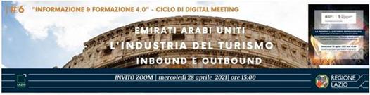 Verso EXPO2020DUBAI – EAU: l'Industria del TURISMO Inbound e Outbound