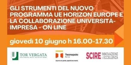 STRUMENTI HORIZON EUROPE E COLLABORAZIONE UNIVERSITA' IMPRESA